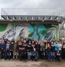 International seminar on Aquatic Warbler protection participants, Tulkiarage, Lithuania