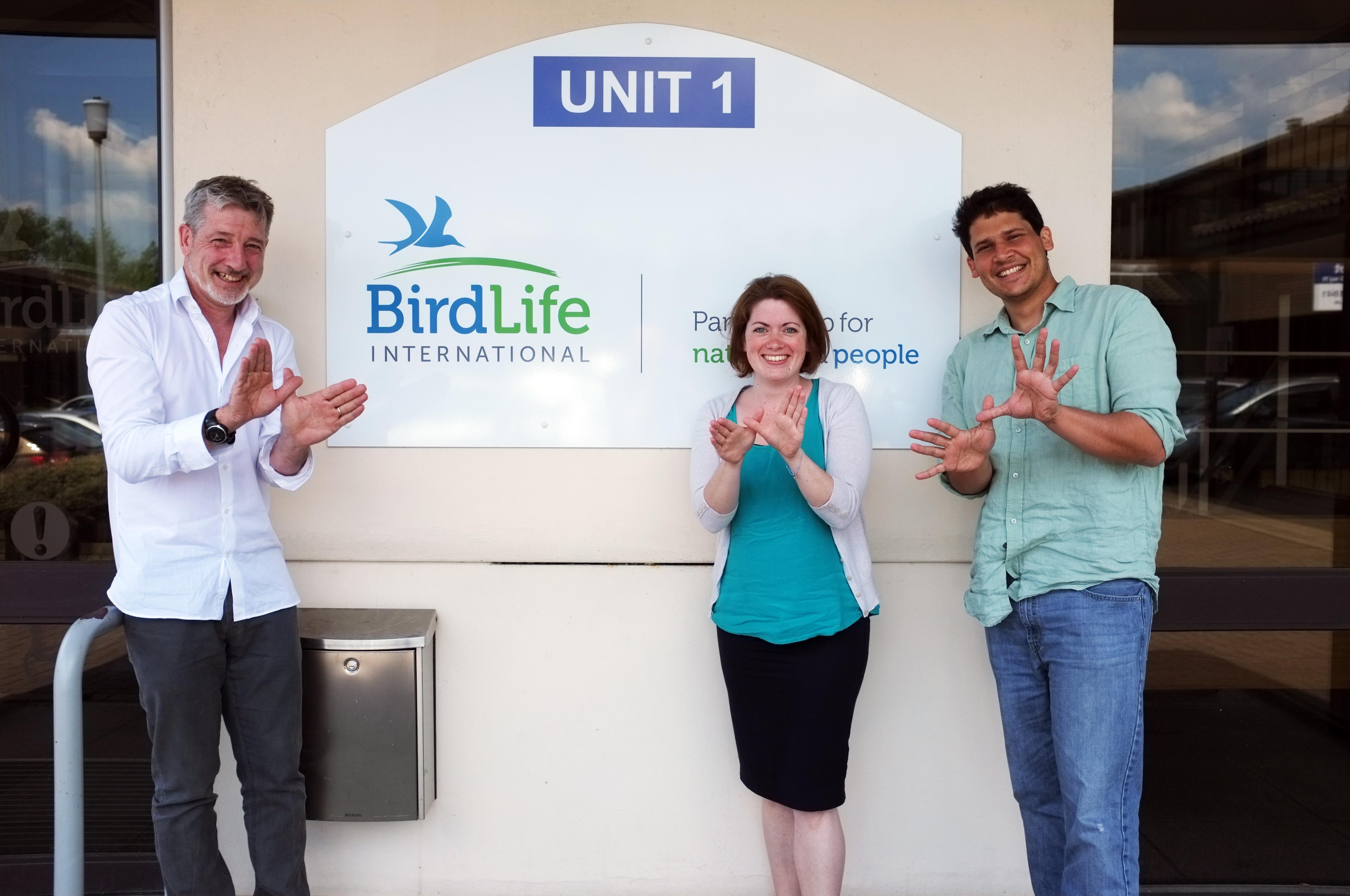 BirdLife staff celebrating Natura2000day