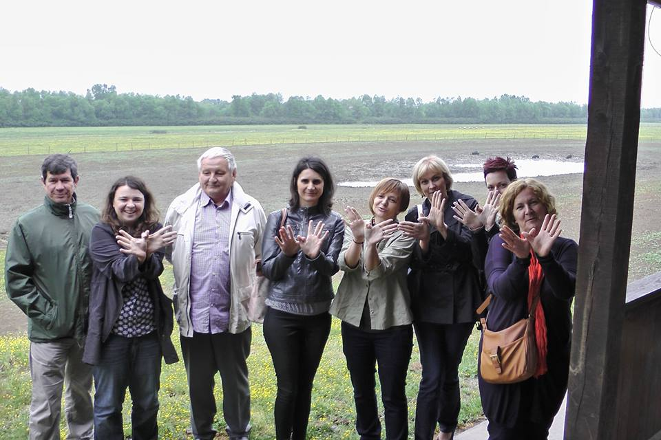Significant landscape Gajna – N2000 site – project team caring for flooded pastures near Sava River